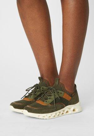 Sneakers laag - khaki/cognac