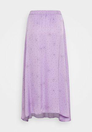 MEA SKIRT - Maxi skirt - lavender/black