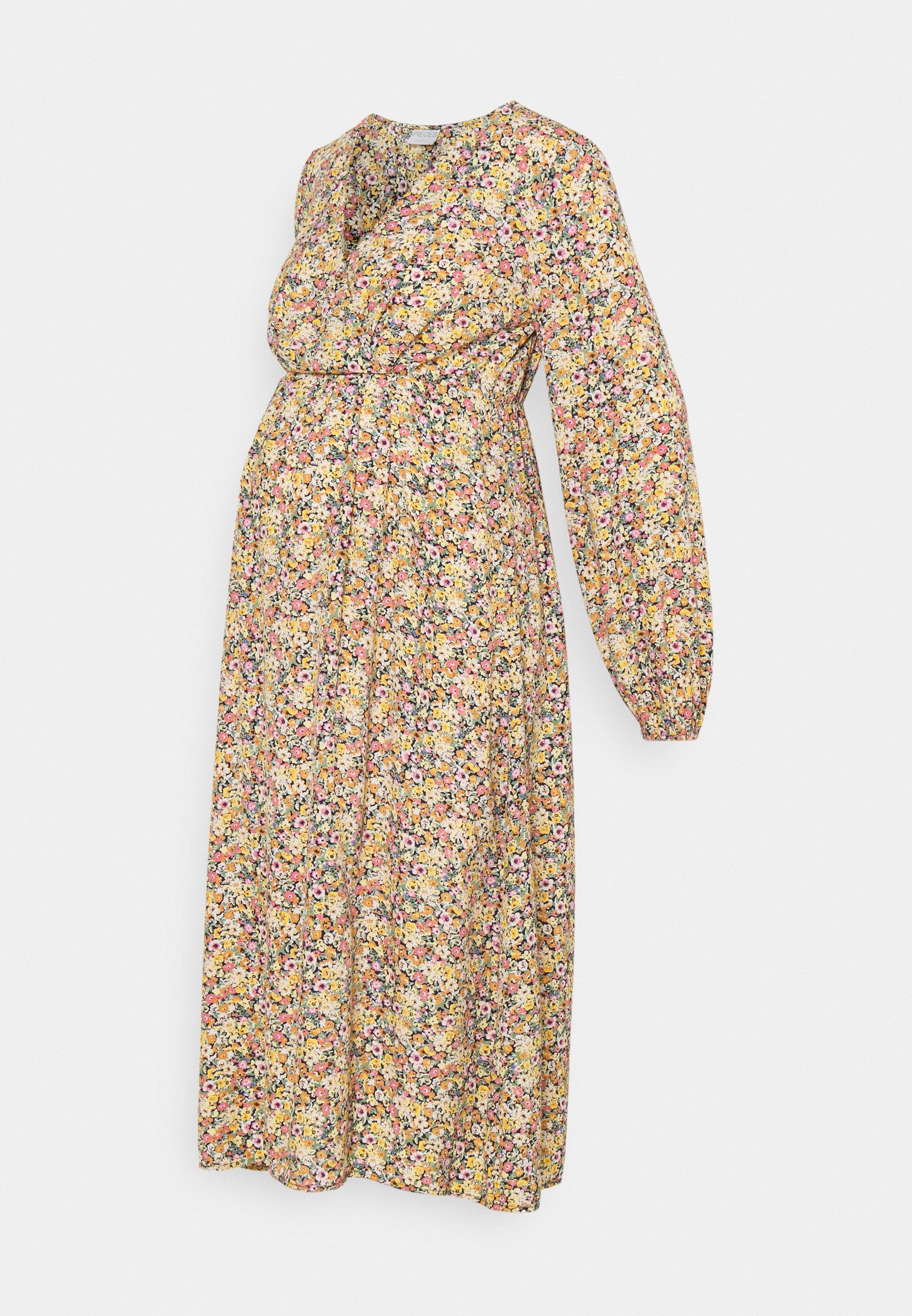 Women PCMGRY WRAP MIDI DRESS - Day dress