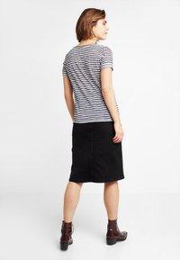 Object - Basic T-shirt - sky captain/white stripes - 2