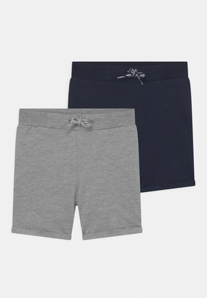 NMMDIDRIK 2 PACK - Shorts - grey melange/dark sapphire