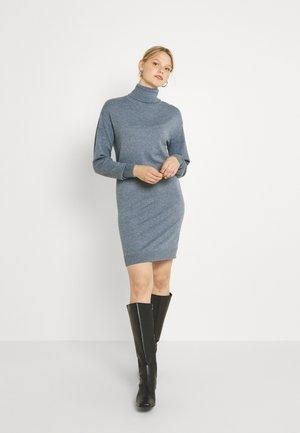 VIRUBI L/S ROLL NECK/KA - Jumper dress - colony blue