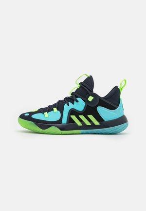 HARDEN STEPBACK 2 BASKETBALL BOUNCE SHOES - Chaussures de basket - legend ink/signal green/pulse aqua