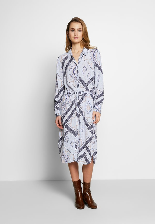 FRHASCARF DRESS - Shirt dress - brunnera blue mix