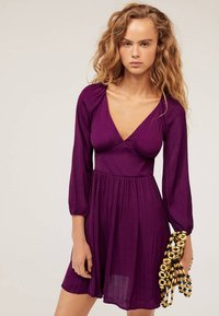 OYSHO - Day dress - dark purple - 0