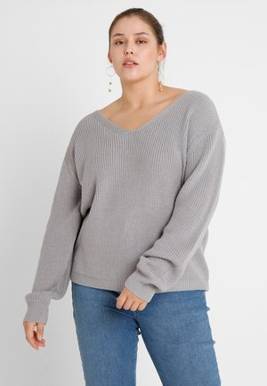 LADIES BACK LACE UP - Jumper - grey