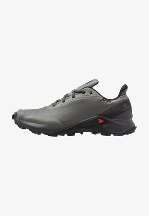 ALPHACROSS GTX - Løpesko for mark - castor gray/ebony/black