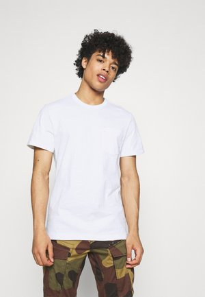 CONTRAST MERCERIZED PKT R T S\S - Basic T-shirt - white