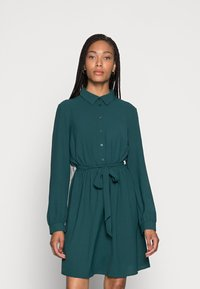 Anna Field - BELTED BLOUSE DRESS - Sukienka koszulowa - dark green - 0