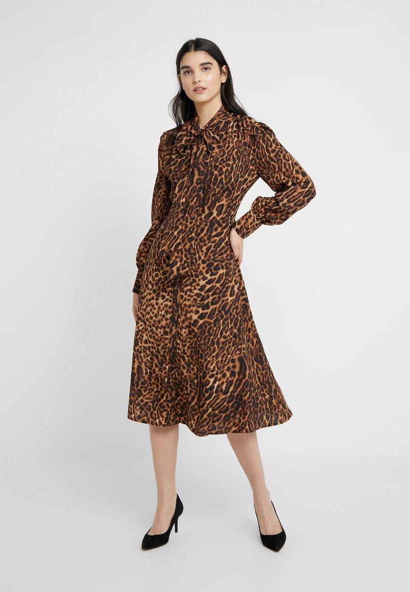 Lauren Ralph Lauren - POLY DRESS - Day dress - black/multi-coloured