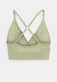 Nike Performance - INDY SEAMLESS BRA - Light support sports bra - celadon/white - 7