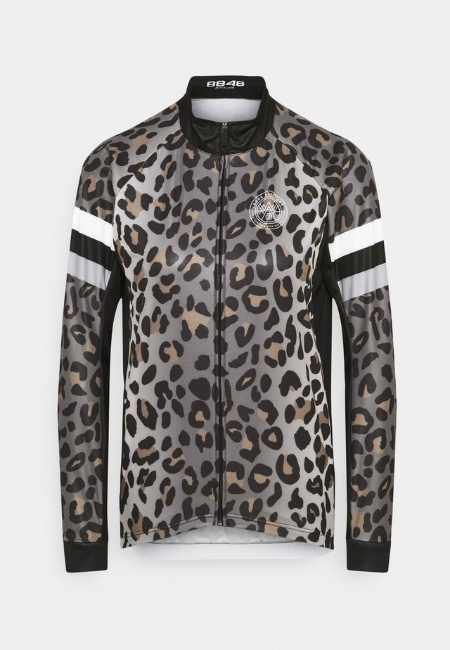 CHERIE JACKET LEOPARD - Trainingsvest - grey