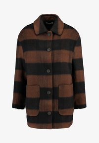 KIAN COAT - Short coat - black/ brown