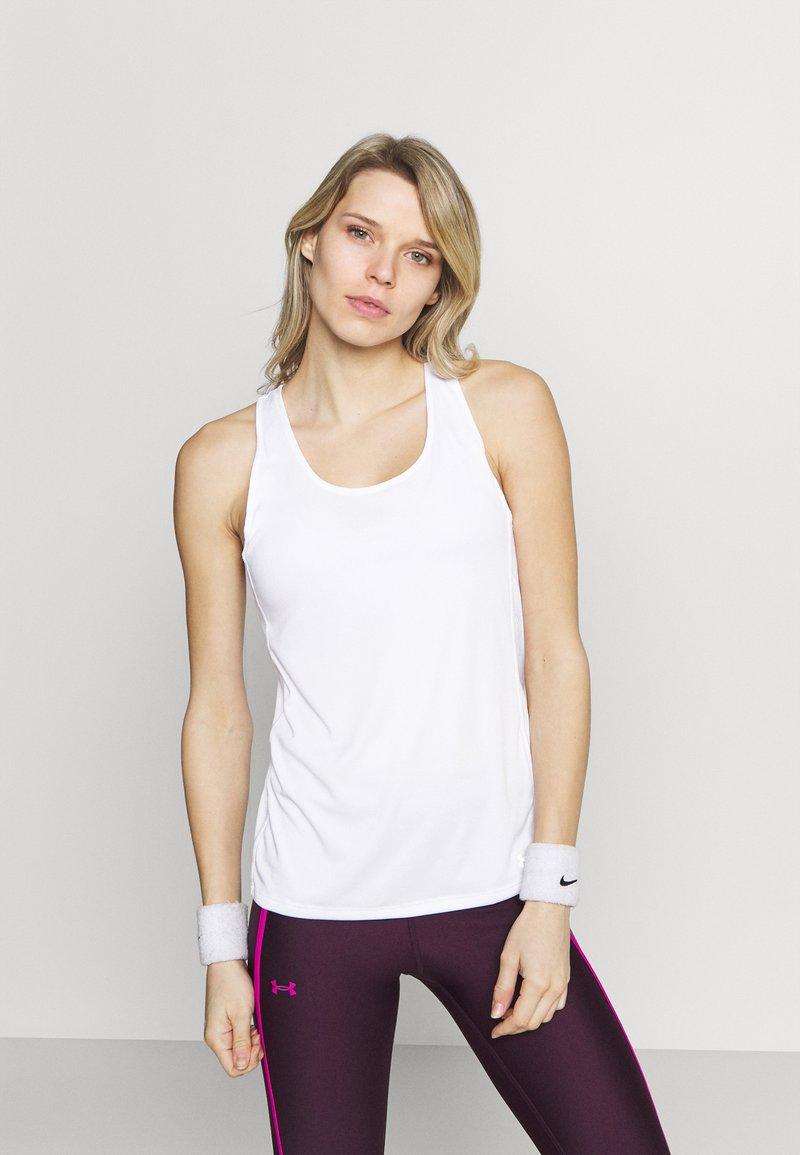 Under Armour - FLY BY TANK - Camiseta de deporte - white
