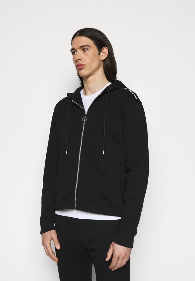 UNISEX - veste en sweat zippée - black