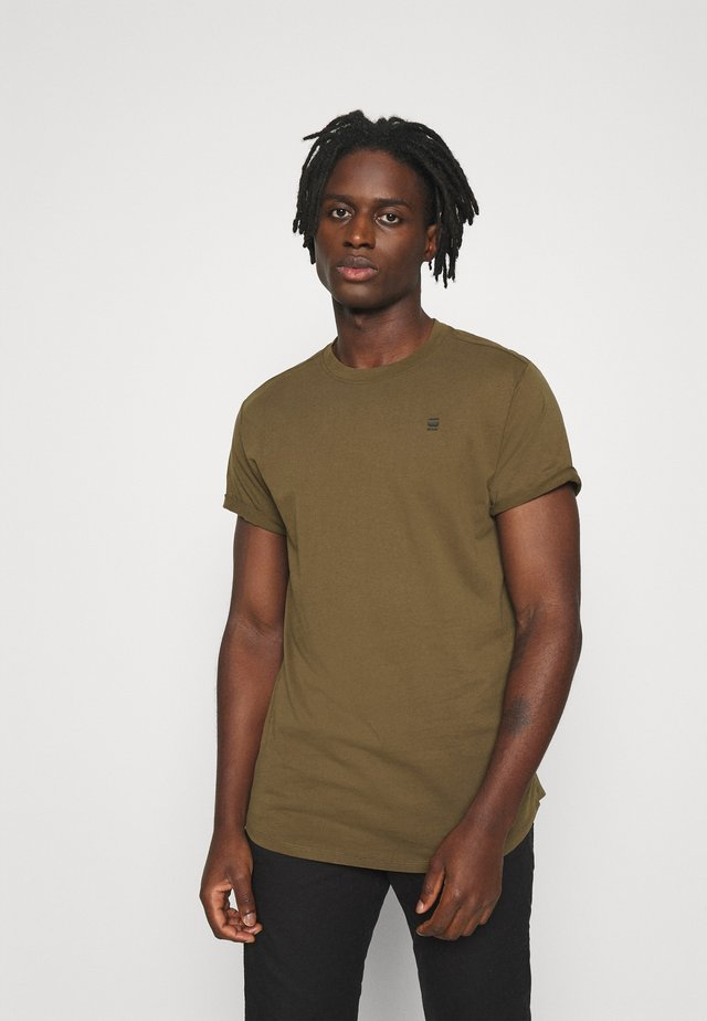 LASH ROUND SHORT SLEEVE - Basic T-shirt - wild olive