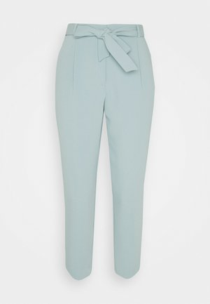 SADIE TIE WAIST SLIM PANTS - Trousers - soft green
