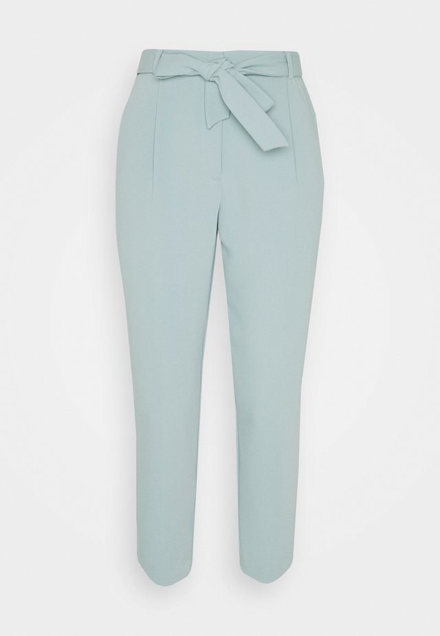 SADIE TIE WAIST SLIM PANTS - Bukse - soft green