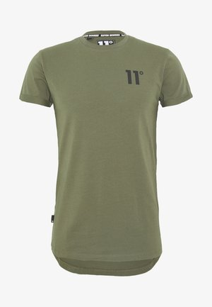 CORE MUSCLE FIT - Print T-shirt - khaki