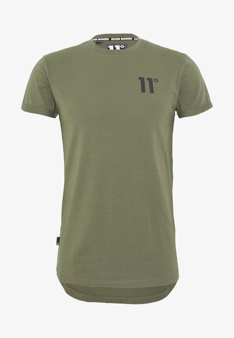 11 DEGREES - CORE MUSCLE FIT - T-shirt print - khaki