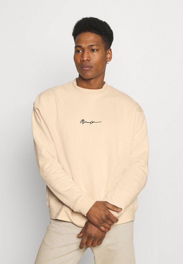 ESSENTIAL SIGNATURE HIGH NECK UNISEX  - Sweatshirt - sand