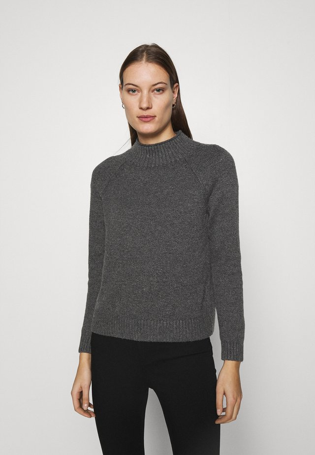 DOORBUSTER FUNNEL NECK SOLIDS - Jumper - dark grey