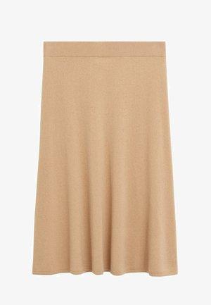 Pleated skirt - mittelbraun