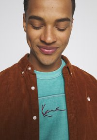 Karl Kani - SMALL SIGNATURE WASHED TEE UNISEX  - Print T-shirt - turquoise - 3