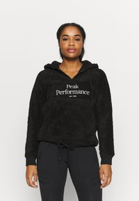 Peak Performance - ORIGINAL PILE HALF ZIP - Hoodie - black - 0