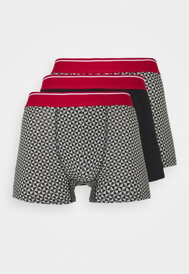 MONO GEO TRUNKS 3 PACK - Onderbroeken - grey