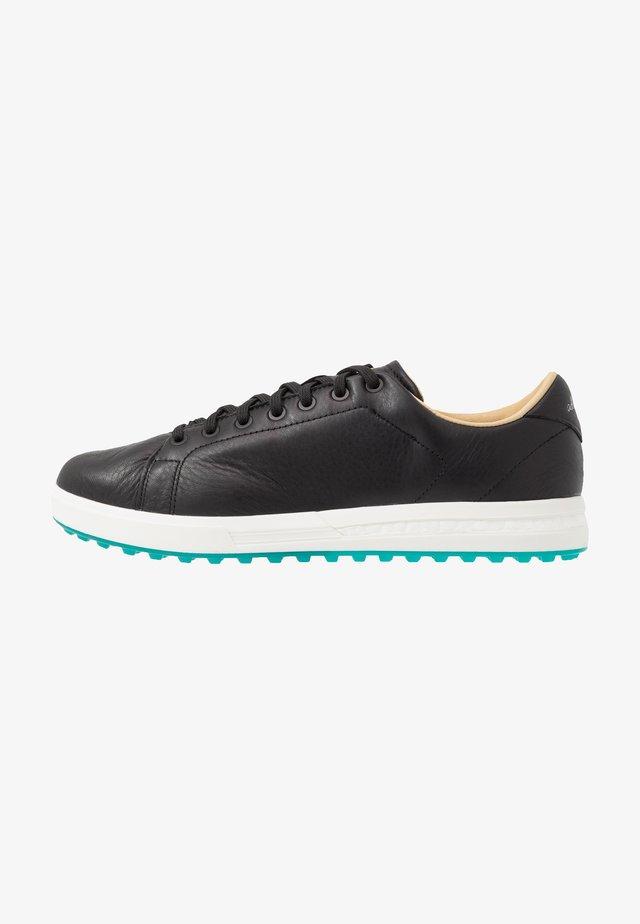 ADIPURE SP 2 - Golf shoes - core black/core white/glory green