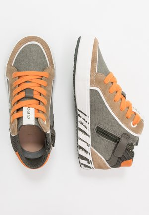 ALONISSO BOY - Zapatillas altas - military/orange