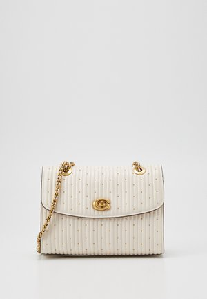 QUILTED PARKER SHOULDER BAG - Bandolera - chalk