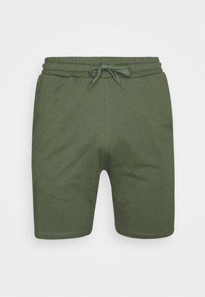 LOUNGE STRIPED SHORTS - Pyžamový spodní díl - khaki/black