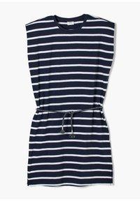 s.Oliver - ROBE À MOTIF RAYÉ - Jersey dress - dark blue stripes - 1