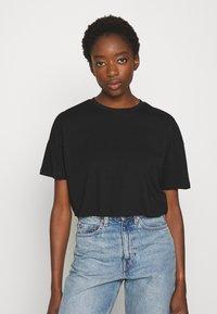 Even&Odd - 2 PACK - Basic T-shirt - black/white - 4
