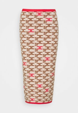 WOMAN'S SKIRT - Pencil skirt - burro/amaranto