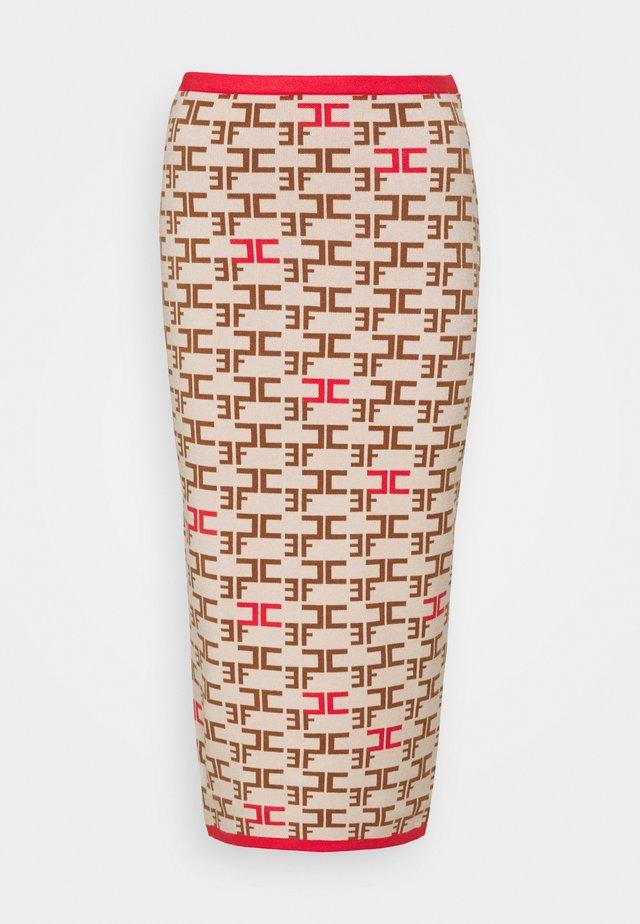WOMAN'S SKIRT - Pouzdrová sukně - burro/amaranto