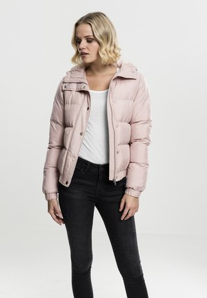 LADIES HOODED PUFFER - Winter jacket - lightrose