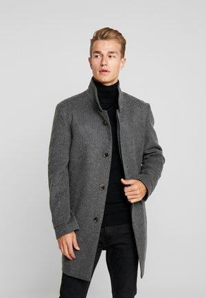 Płaszcz wełniany /Płaszcz klasyczny - mottled dark grey