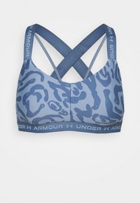 Under Armour - CROSSBACK LOW PRINT - Light support sports bra - mineral blue - 5