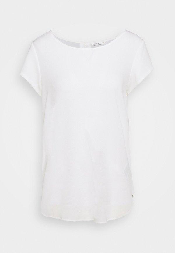 ONLY Tall ONLNOVA LUX SOLID - T-shirt basic - cloud dancer/biały NWHY