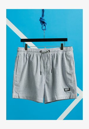 VOLLEY SEERSUCKER  - Swimming shorts - navy/optic stripe