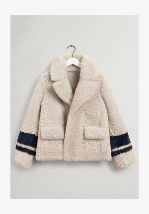 REVERSIBLE SHEARLING - Winter jacket - manila melange
