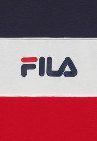 Fila - BASIC BLOCKED HOODY - Hoodie - true red/black iris/bright white - 2