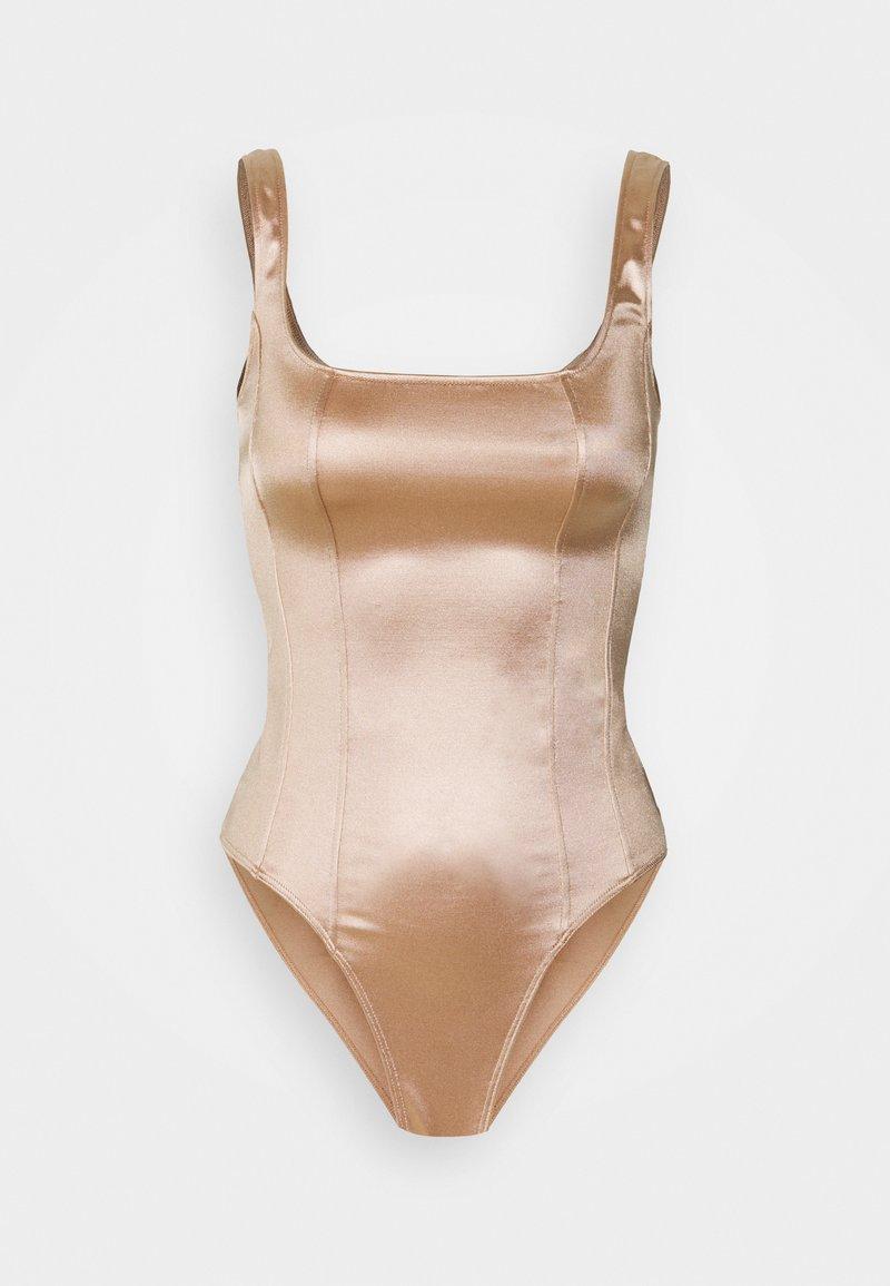 New Look - SATIN CORSET - Débardeur - pale pink