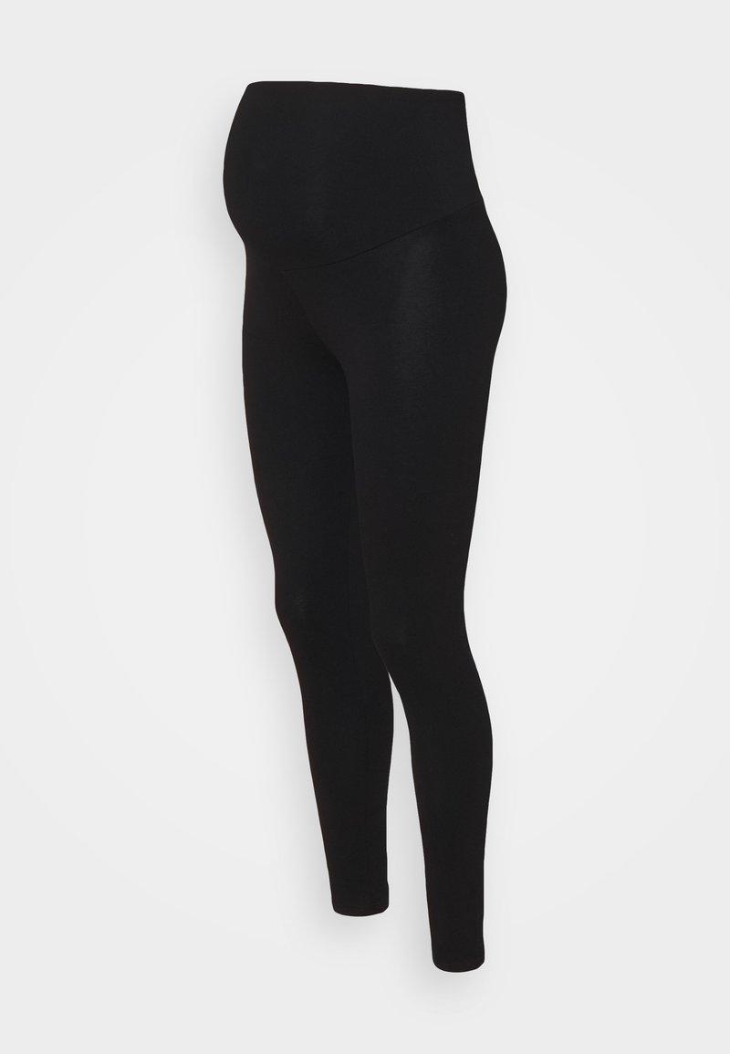 Dorothy Perkins Maternity - ORGANIC OVERBUMP - Leggingsit - black