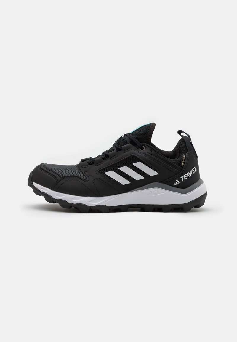 adidas Performance - TERREX AGRAVIC TR GTX - Løpesko for mark - core black/crystal white/acid mint