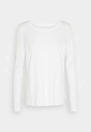 TURNED NECK - Long sleeved top - whisper white