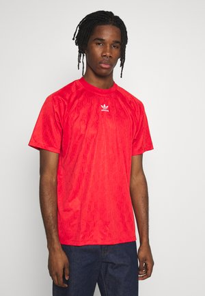 GRAPHICS MONO JERSEY SHORT SLEEVE - T-shirt con stampa - lusred/white